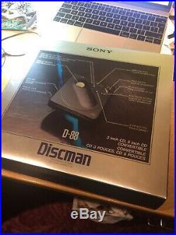 1988 Sony D-88 Discman Portable CD Player