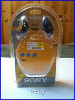 2003 Sony Psyc Walkman D-EJ360 Portable CD Player Disco Yellow New Sealed