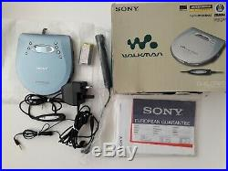 BOXED SONY D-EJ725 CD Walkman Portable Discman Personal CD Player Anti Skip