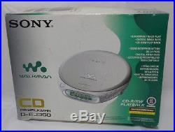 Collectors New Sony DEJ360 Silver CD Walkman Portable CD Player (D-EJ360/S)