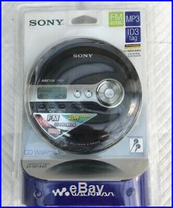 For Collectors Only Sony MP3 FM Radio Personal CD Player Black (D-NF340/BC)