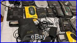 Lot Of 29 Vintage Assorted Sony Walkman Discman CD Cassette D-5 D-2 F-18 Toshiba