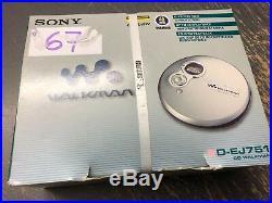 NEUER Sony DISCMAN D-EJ 751 tragbarer CD Player Walkman in OVP nie geöffnet