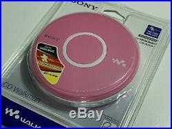 NEW SEALED Sony CD Walkman D-EJ011 Pink Portable CD Player