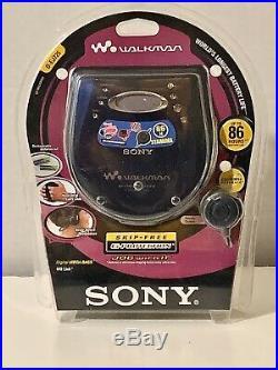 NEW Sealed SONY WALKMAN Personal CD Player D-EJ725 Skip-Free Blue RARE Vintage