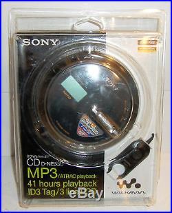 NEW Sony CD Walkman CD D-NE330 MP3/ATRAC, 41 hours playback ID3 Tag/3 Line LCD