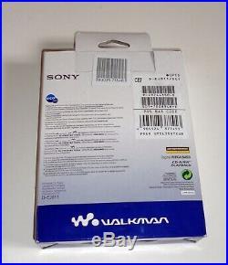 NEW Sony CD Walkman D-EJ011 Silver Headphones Mega Bass Player Portable Vintage
