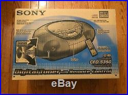 NEW Sony CFD-S350 CD Cassette Digital Tuner Portable Boombox with Remote Silver