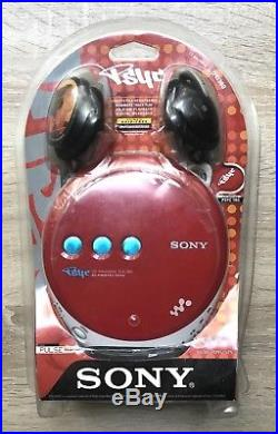 NEW Sony Psyc D-EJ360 CD Walkman Disc Player Red Sealed
