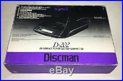 NIB Vintage Sony Discman D-202 Compact Disc CD Player 1991 NEW IN BOX