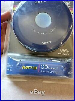 NOS Sony CD Walkman D-NE005 MP3 Discman Portable CD Player SEALED WithHeadphones
