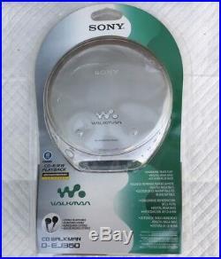 New Retro Sony DEJ360 Silver CD Walkman Portable CD Player (D-EJ360/SCC)