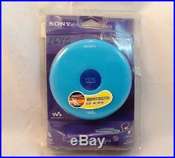 New Sealed Retro Sony CD Walkman Portable Personal CD Player (D-EJ010PSBLU)