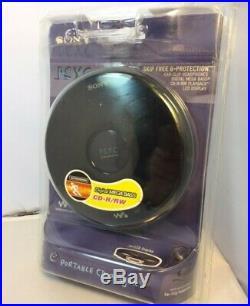 New Sealed Sony PSYC CD Walkman Portable CD Player Black (D-EJ010)