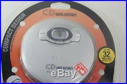 New Sony CD Walkman D-EJ611 Silver Discman Portable Compact Disc Player SEALED