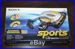 New Sony D-SJ01 Portable CD Player Walkman Discman Sports Yellow