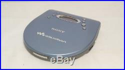 New Sony DEJ725 Personal CD Player Blue Open Box (D-EJ725/LM)