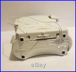New Sony Shower Radio AM/FM Clock Radio Portable CD Player Model ICF-CD73V