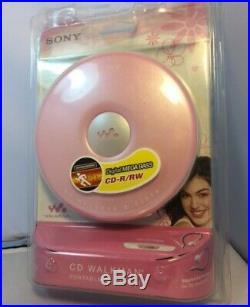 New Sony Walkman D-EJ010 Portable CD Player CD-R/RW Pink