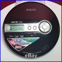 Personal CD Player Sony Walkman D-nf340 Mp3 Fm Radio