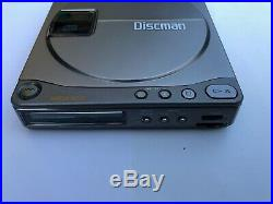 RARE. Silver! Sony Discman D-90, fully serviced. Recapped new motor