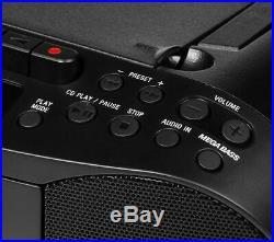 SONY CFD-S70 PORTABLE CD PLAYER TAPE MEGA BASS BOOMBOX AM FM RADIO MP3 IPOD Conn