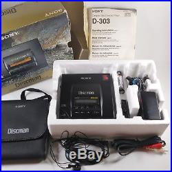 SONY D-303 D303 Discman CD Player Complete in box (updated description)