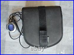 SONY D-EJ01 RARE 20th Anniversary CD Walkman + Carry Case Tested & Working