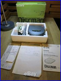 SONY discman CD player D-311 Japan market version RARE with CAR ADAPTOR
