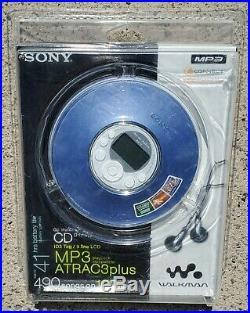 Sealed! Sony Walkman Atrac3plus D-NE319 Portable MP3 CD-R/RW Player Blue