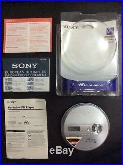 Sony CD MP3 Walkman D-NE240 Portable CD Player G Protection Digital Mega Bass