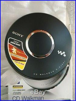 Sony CD Walkman D-EJ021 Portable Player Mega Bass Black
