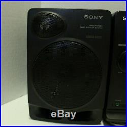 Sony CFD-510 CD Radio Cassette Player Black Portable Boombox Ghetto Blaster