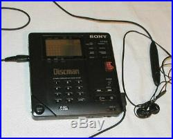 Sony D-350 Discman Portable D-35 CD Player SONY AC Adapter. Powers on /Works