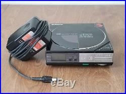 Sony D-5 CD Compact Player + Power Supply Adapter AC-190 Vintage 1985 Tested EUC