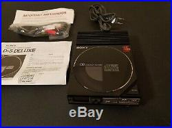 Sony D-5 Compact Disc CD Player original cord included Excellent working