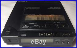 Sony D-555 Discman Vintage CD Player TESTED D555 1991 Case & Plug In Adaptor