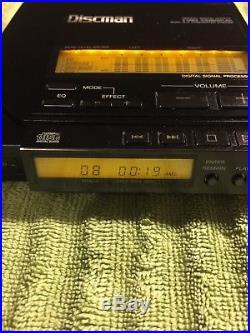 Sony D-555 Vintage Audiophile CD Player Discman Sony Vintage Working Sony RM-DM5