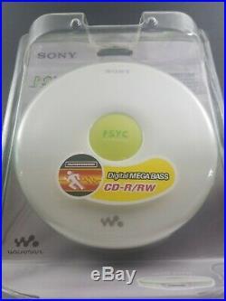 Sony D-EJ010 CD Walkman Portable Compact Disc Player White Neon 2006