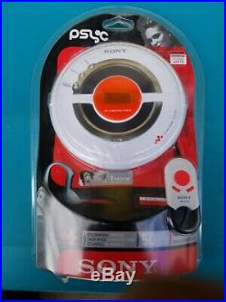 Sony D-EJ100 Psyc Walkman Portable CD Player White Walkman Player Clipon Remote