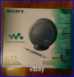 Sony D-EJ2000 Portable Personal CD Player Walkman Discman