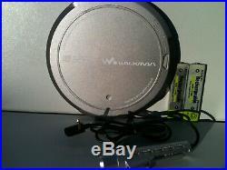 Sony D-EJ955 CD Player Discman CD Walkman TEXT Tragbarer Remote Control Blue