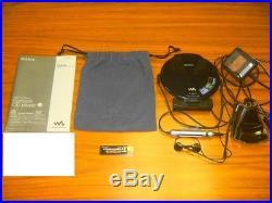 Sony D-NE20 Walkman ESP CD Compact Player Digital AMP Works Excellent Condition