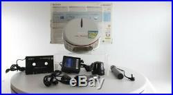 Sony D-NE518CK ATRAC/MP3 Walkman Portable CD Player withCar Kit Silver Grade A