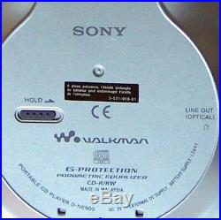 Sony D-NE900 Atrac 3 Plus MP3 CD Walkman Personal CD-R/RW Player ne ne920 ne320