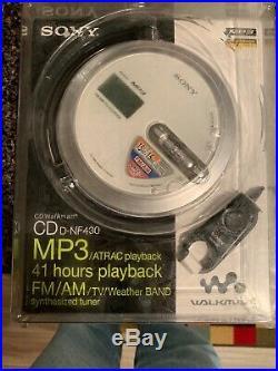 Sony D-NF430 Walkman Portabke Atrac/MP3/CD Player/Radio Silver