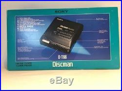 Sony D-T66 with AM/FM radio Discman Portable CD player, new