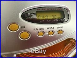 Sony D-sj01 Sports CD Walkman G Protection Discman Top