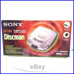 Sony D191 Discman CD Walkman Portable CD Player Blue (D-191/LC)