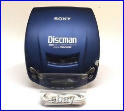 Sony D191 Discman CD Walkman Portable CD Player Blue VGC (D-191/LC)